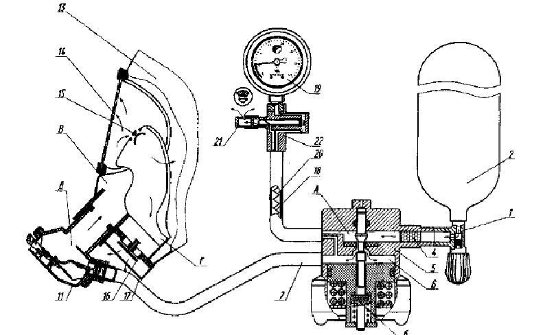 Схема работы дыхательного аппарата